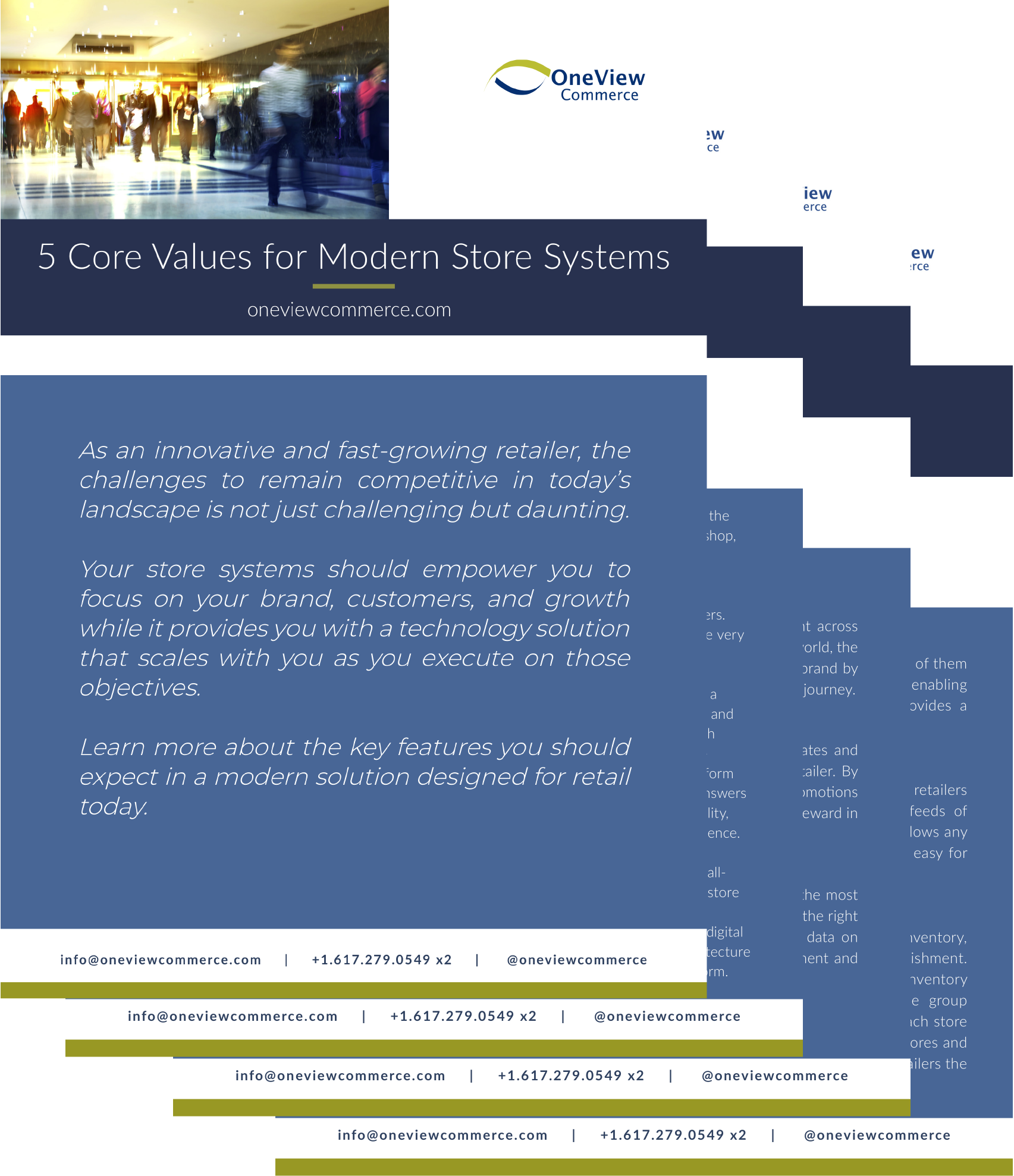 5 core values for modern store systems